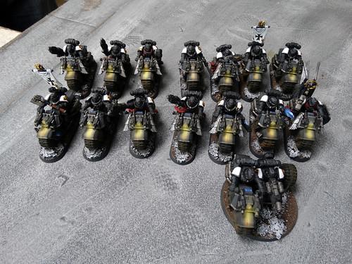 WH40K - Black Templar Bikes & Trikes