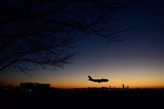 Dawn at Narita International Airport