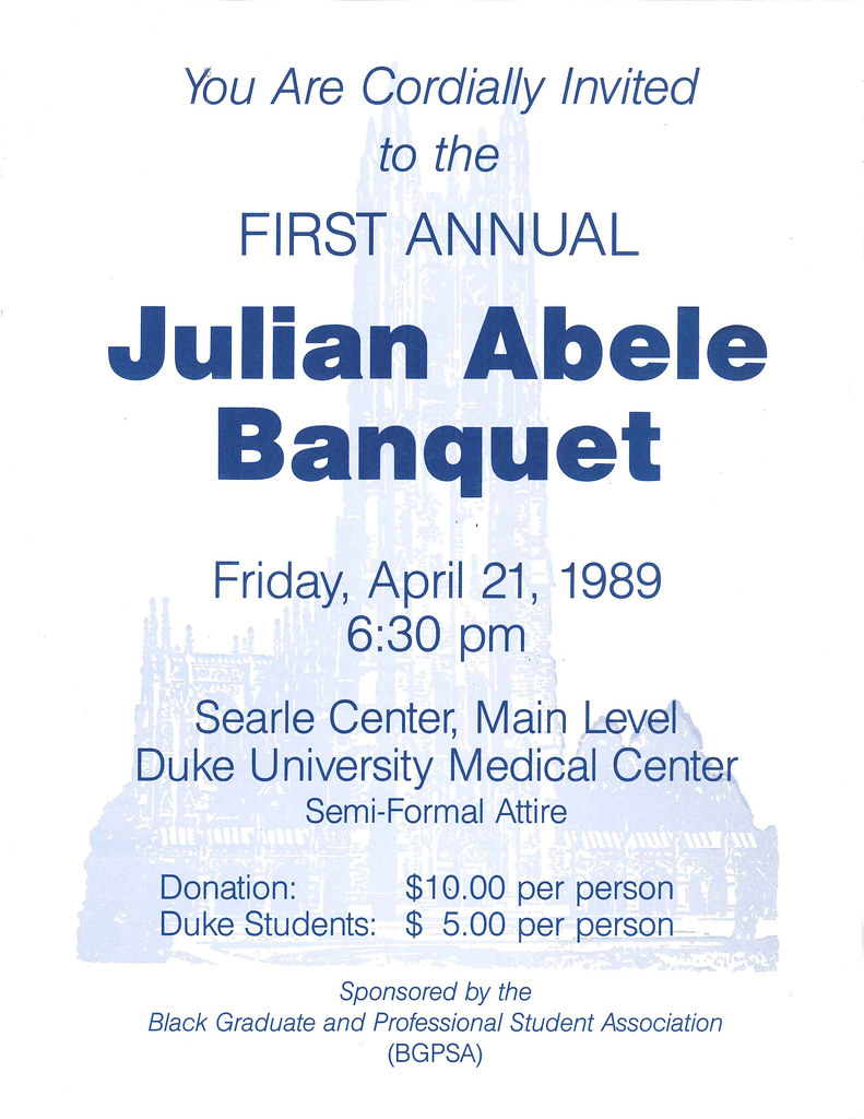 julian abele banquet flyer 1989 repository duke universi flickr