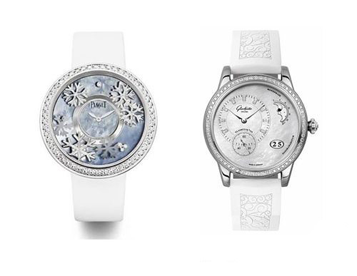 Left: Earl seasons wristwatch right: sugeladi PanoMaticLunar wristwatch