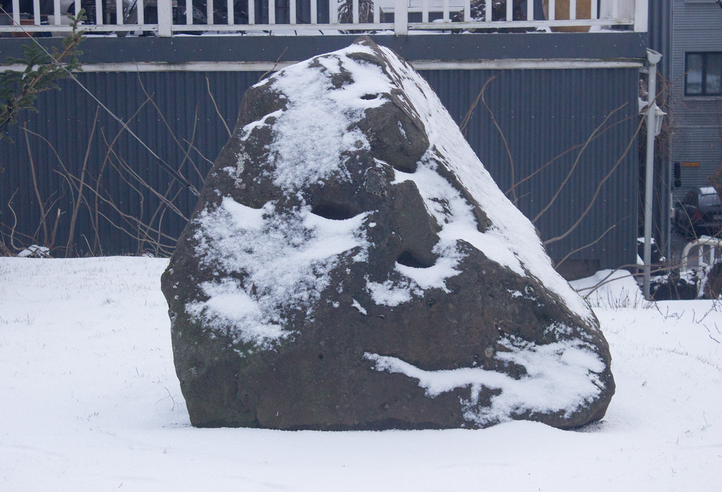 An elf rock in Reykjavik