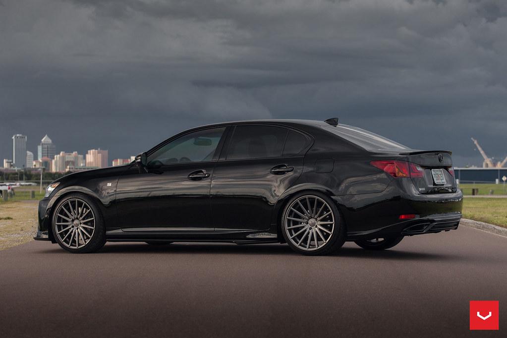 Blacked out & WALD Modified Lexus GS 350 F-Sport x Vossen ...