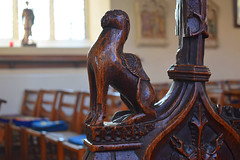 bench end: camel (15th Century)