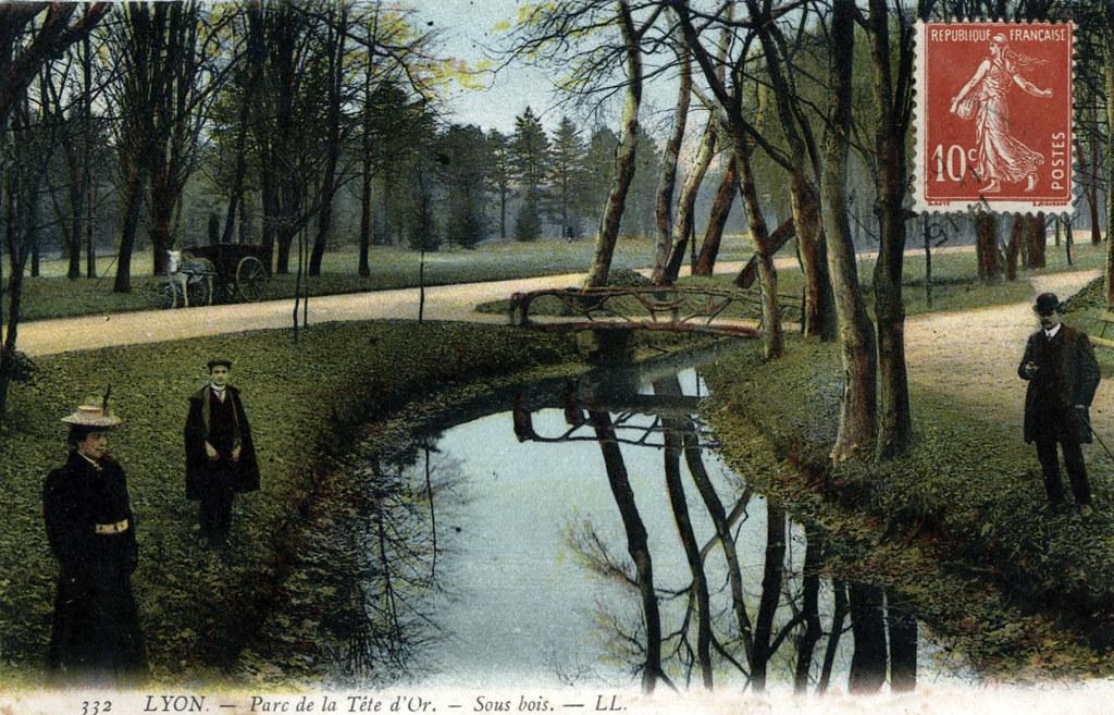 Parc de la Tête d'or à Lyon vers 1900/1910 (?).
