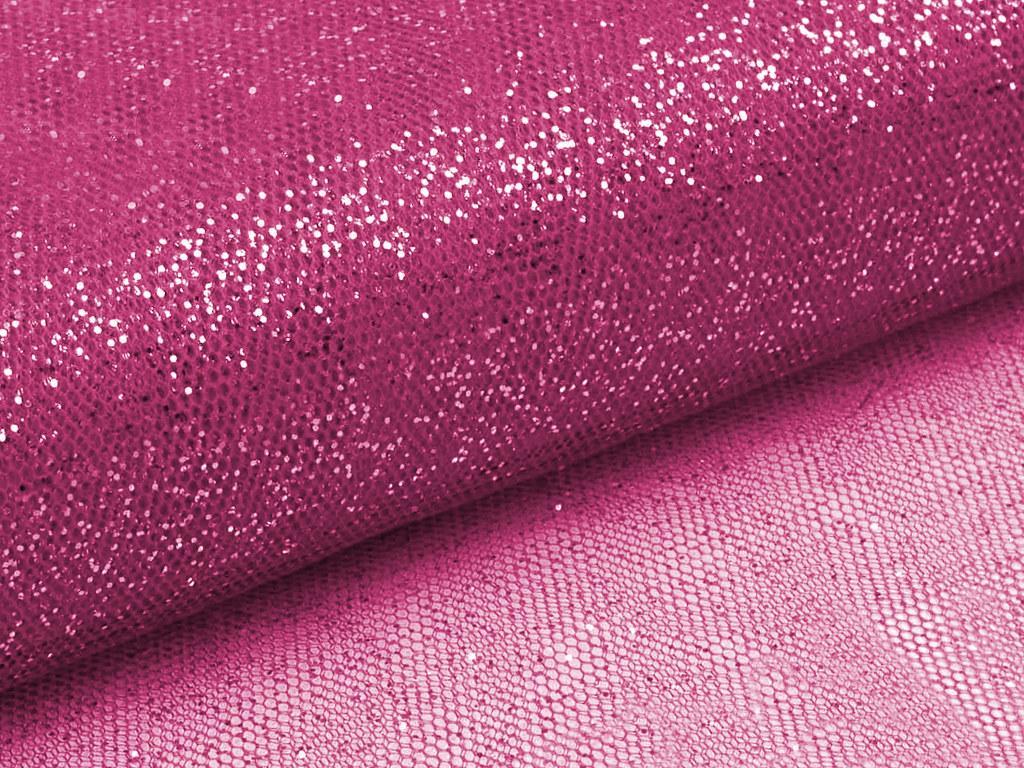 Glitzertüll, pink