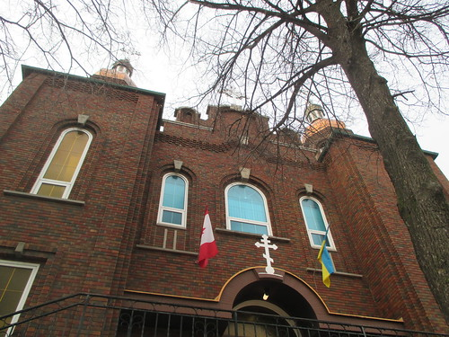 Ukrainian Orthodox Church of St. Andrew the Apostle, looking up