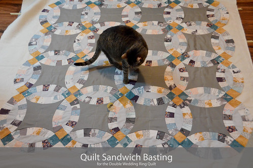 DWR:: Basting the Quilt Sandwich