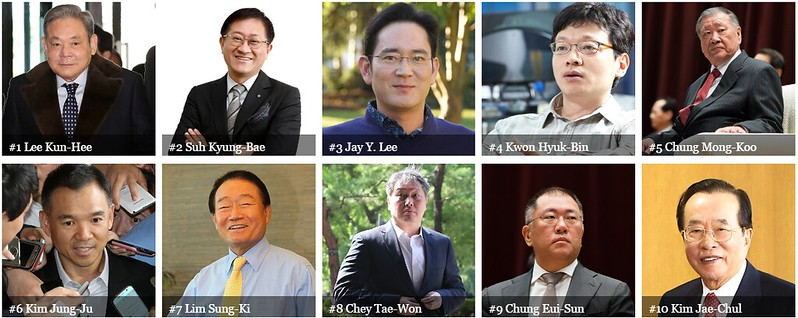 50 Richest Koreans: Please help save the Korean dogs!