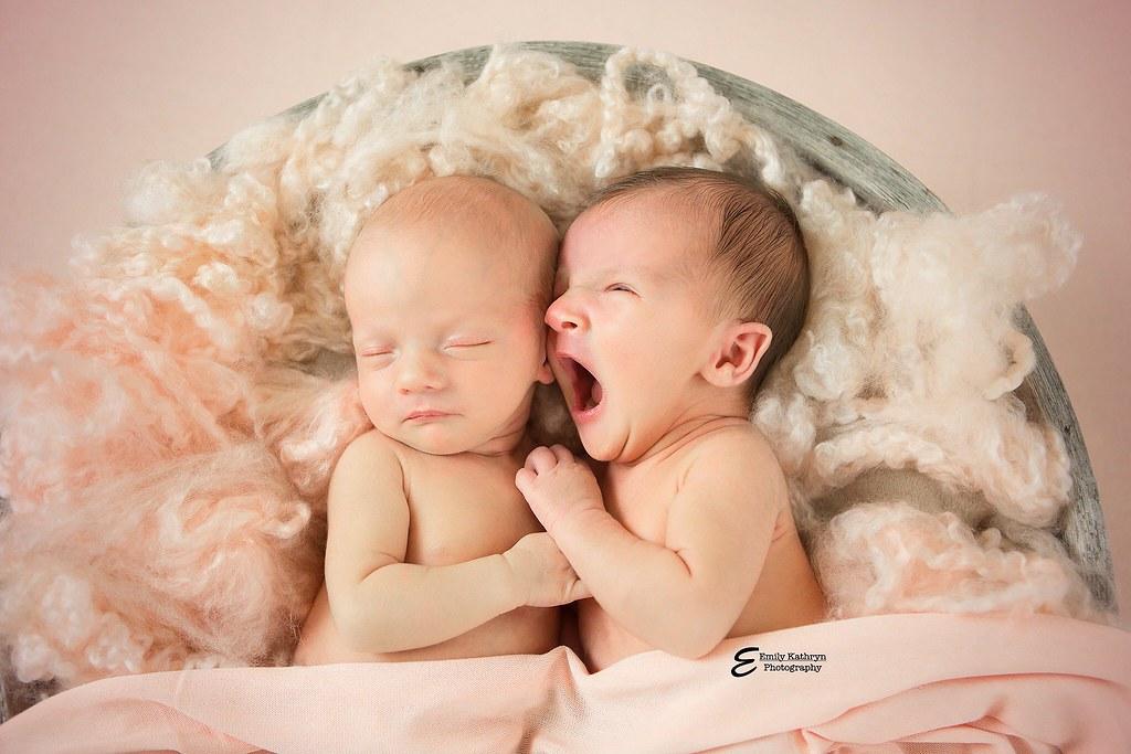 newborn twin girls