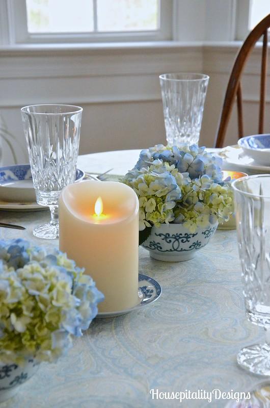 Hydrangea Table Centerpiece-Luminara-Housepitality Designs