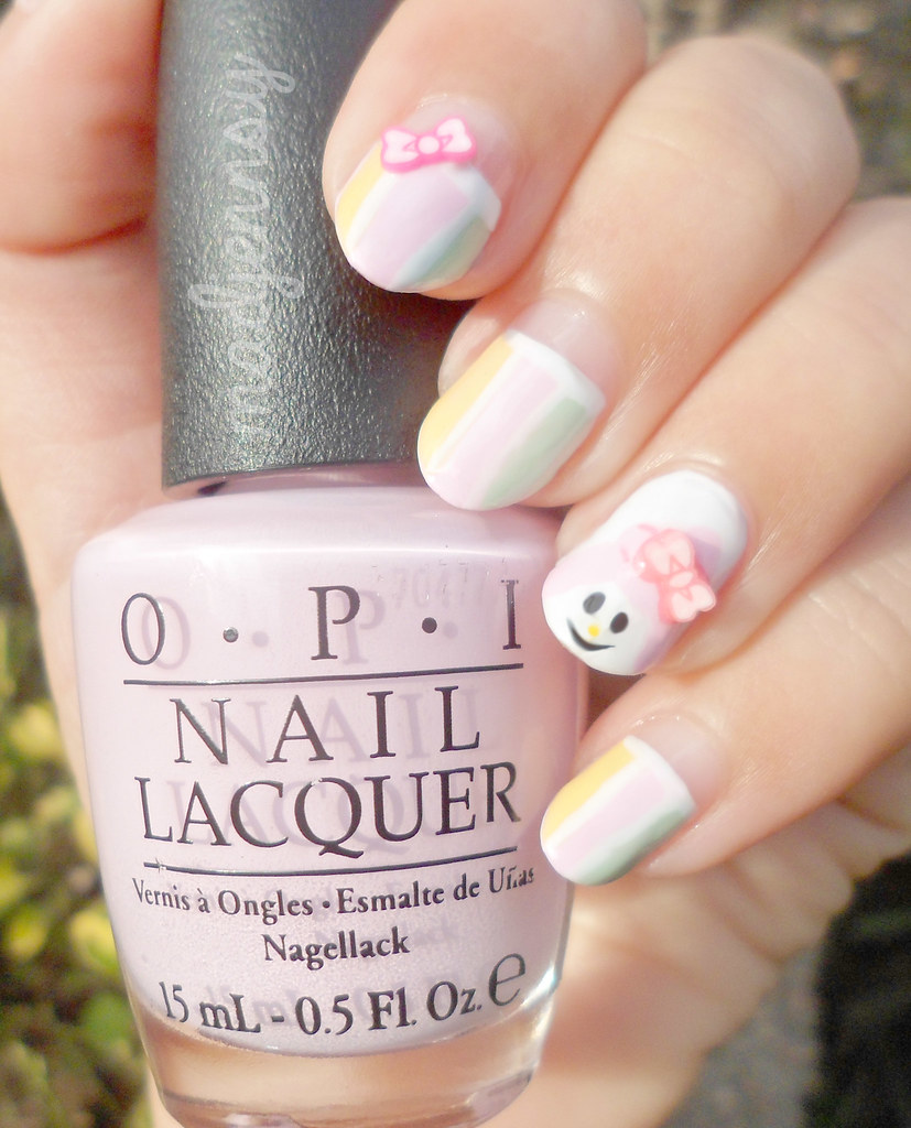 Sanrio My Melody Nail Art Watch Hd Tutorial Youtuqgmp Flickr