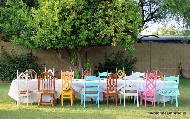 Gekleurde eetkamer stoelen - Foreverpetite