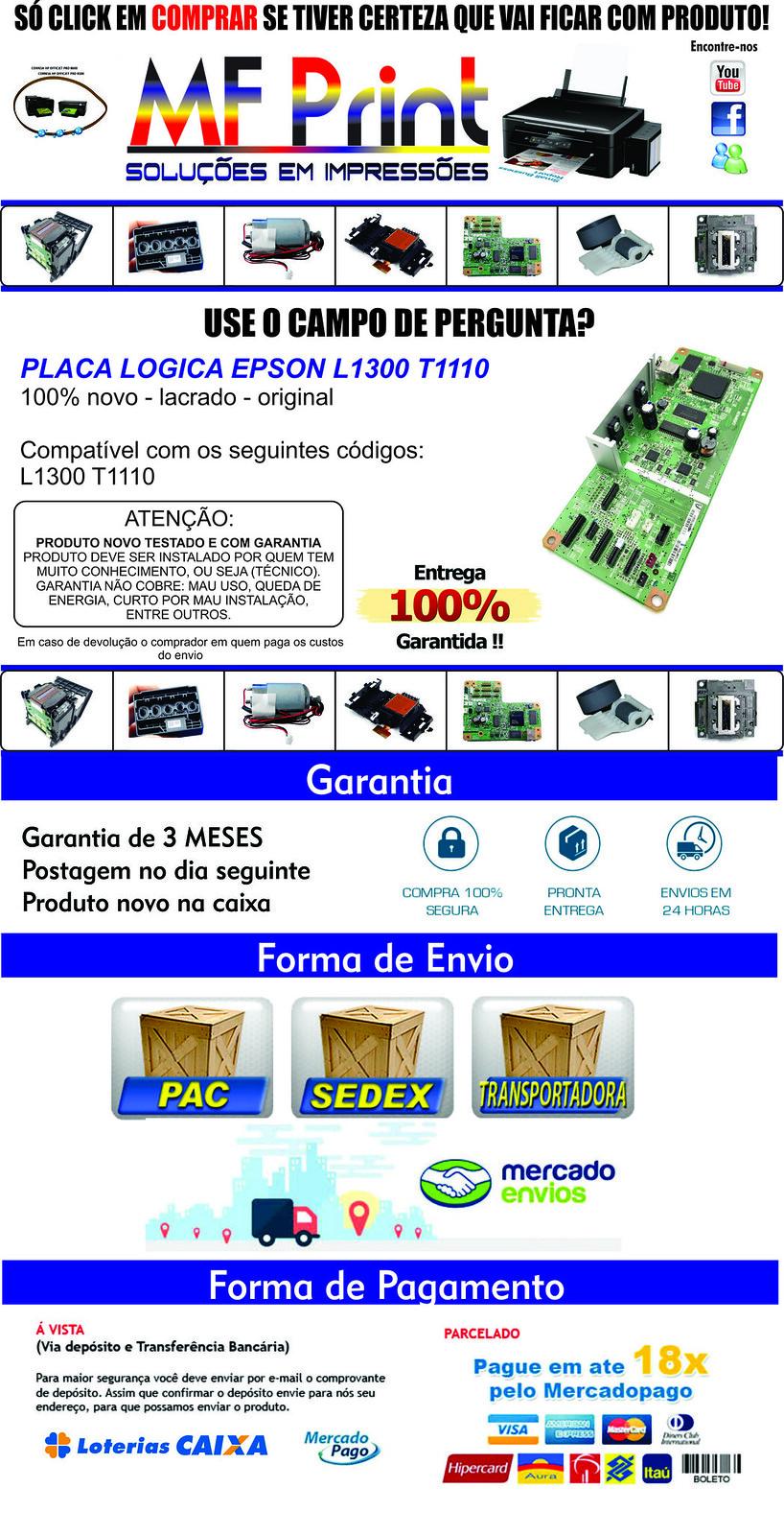 Placa Logica Original Epson L1300 em Jacobina