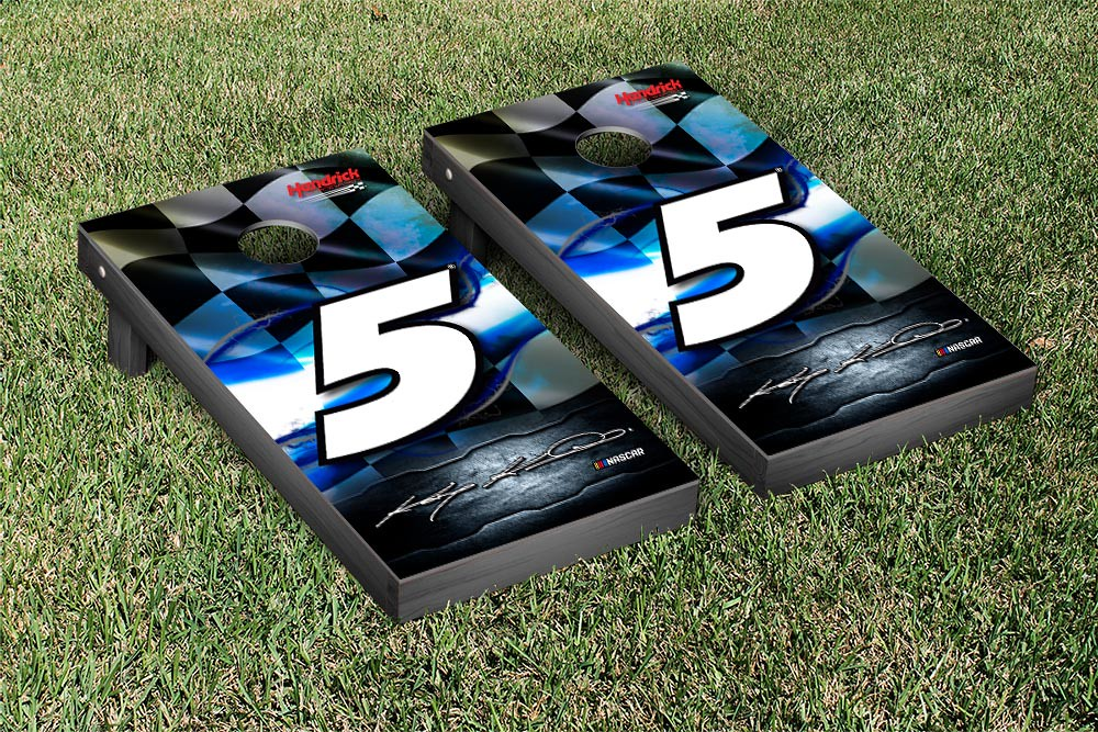 KASEY KAHNE #5 CORNHOLE GAME SET NIGHTLIGHTS VERSION