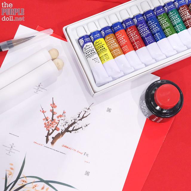 Chan Lim Chinese Painting Workshop at SM North EDSA