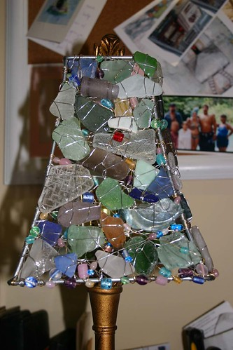 Sea Glass Lamp Cunstruction2 | by sugarbeestudios