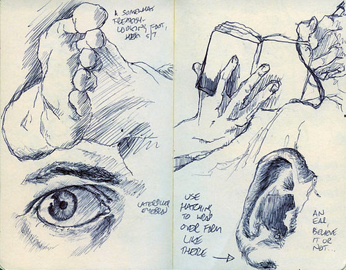 Sketched Body Parts | A Couple Of Pages From My Sketchbook (u2026 | Flickr