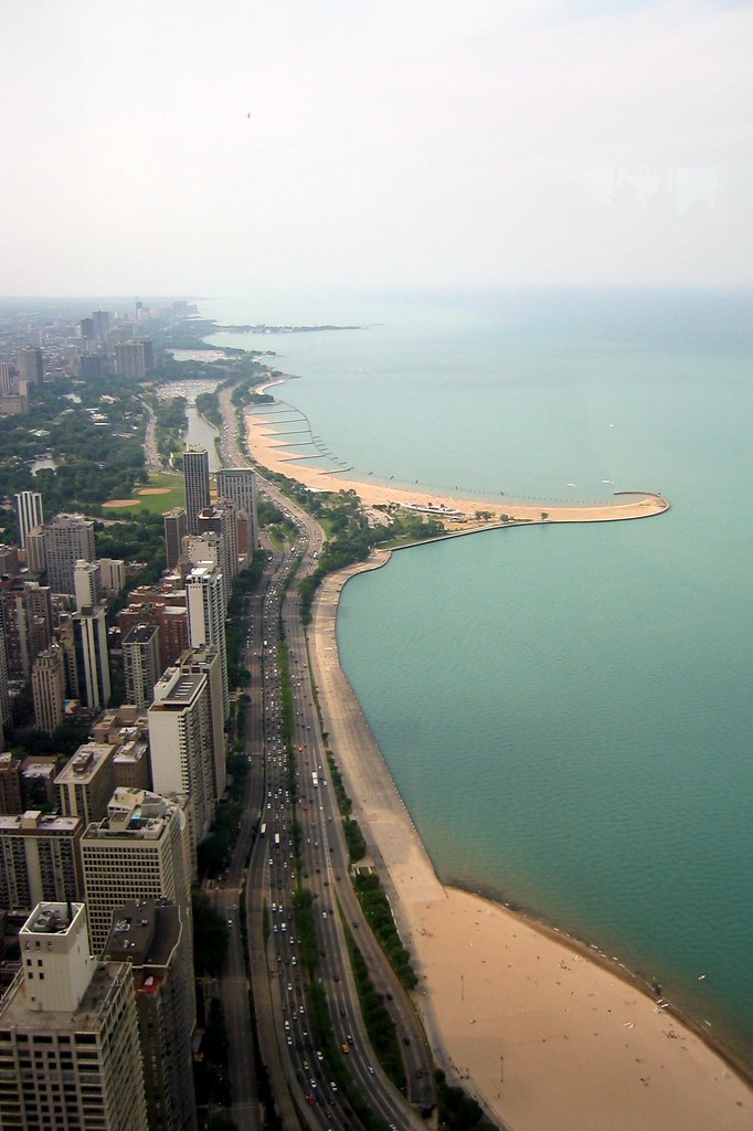 North Park Lincoln >> Chicago: Gold Coast | Aerial view of the Gold Coast, looking… | Flickr