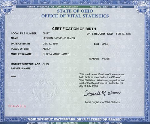 Birth Certificate | by basketball