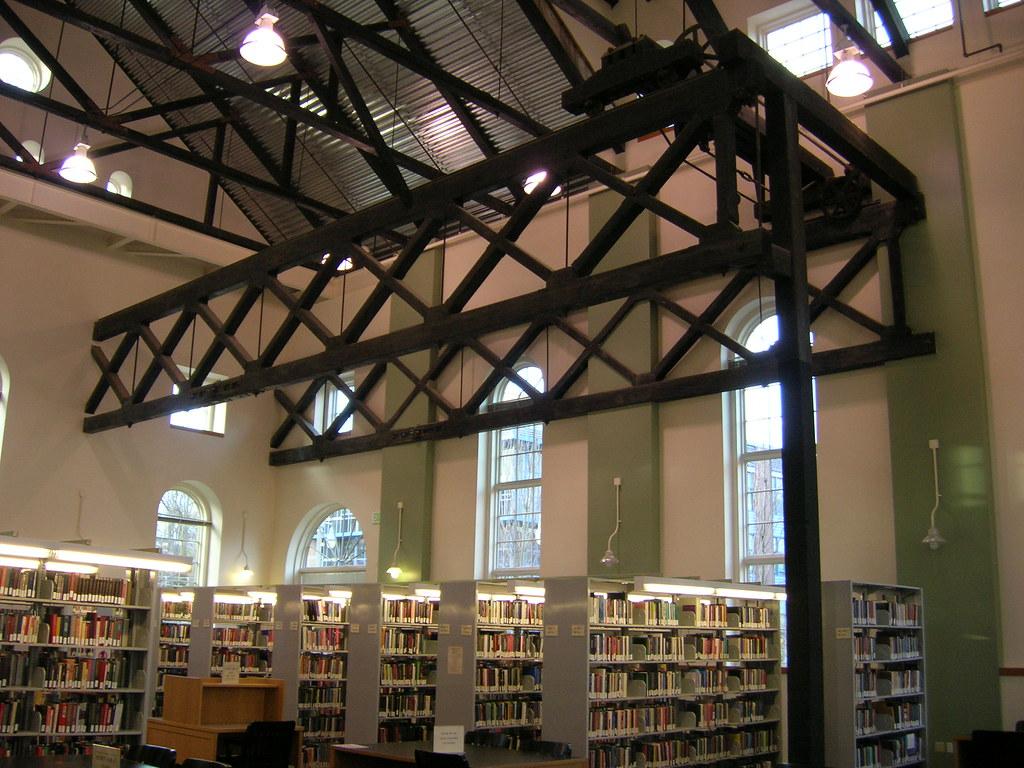 The University of Washington Tacoma Library interior.