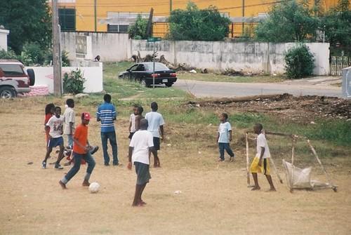 Children Playing Soccer Jamaica Gerlinde Gniewosz Flickr