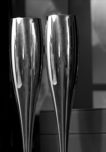 B&W Champagne Flutes | by nayr