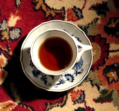 red tea, red rug | by Kim Denise