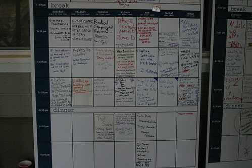 Schedule @ Sat morning, 2006 | by quinnums