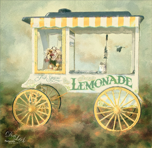 Image of a painted Lemonade Cart