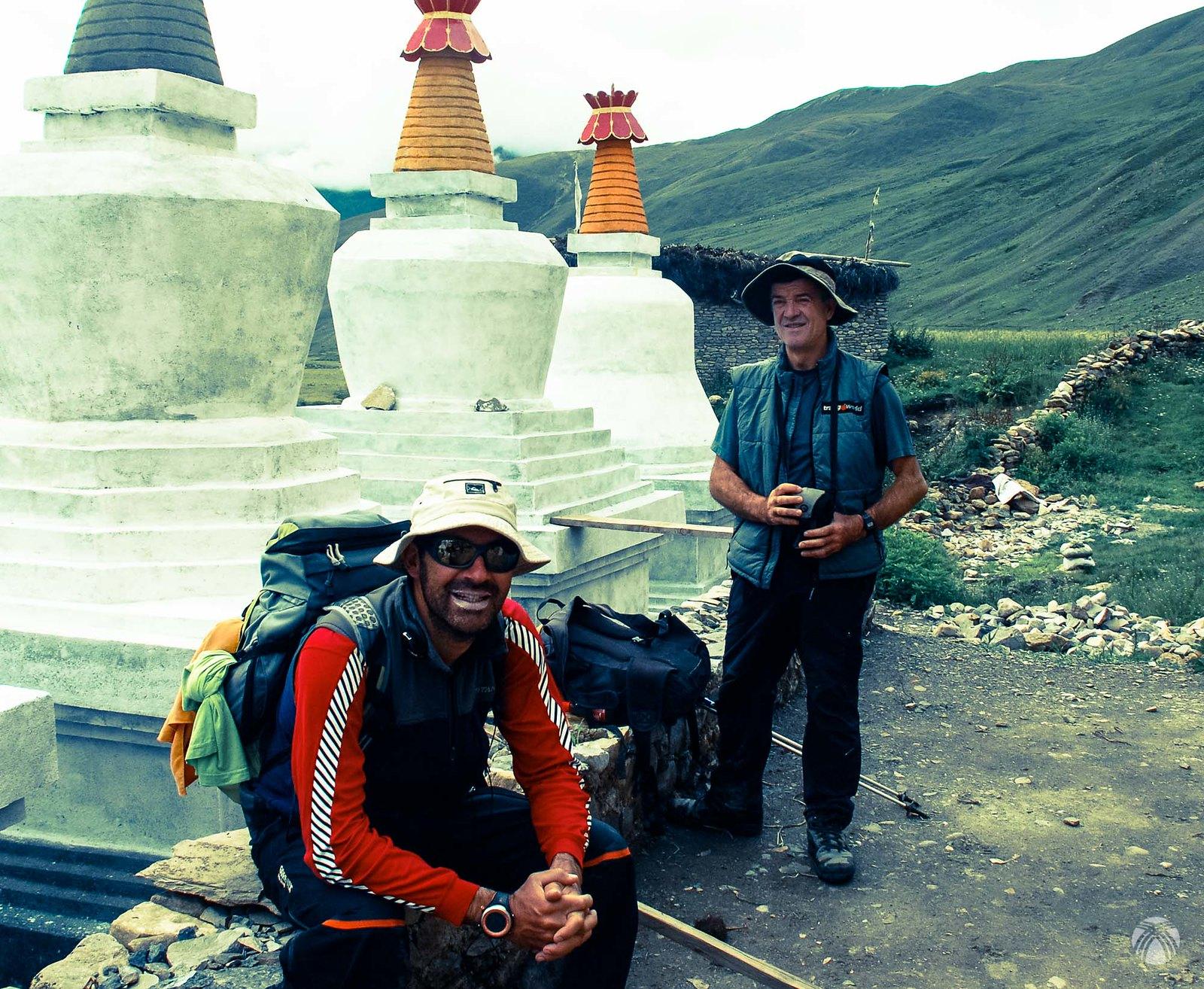 Con Carlos en el Alto Dolpo. Himalaya del Nepal.