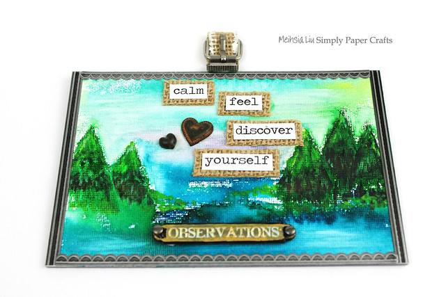 Meihsia Liu Simply Paper Crafts Mixed Media Canvas Simon Says Stamp Monday Challenge Chill Out Tim Holtz Watercolor 1