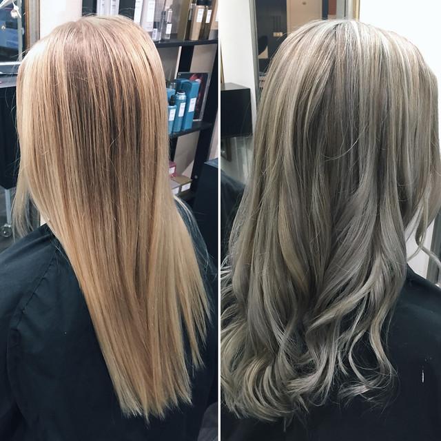 BlondeHairBeforeAndAfterPC219839.jpgLightGrayBlondeHairNewHair, new year new hair, uusi vuosi uudet hiukset, cold blonde highlights, kylmän vaaleat raidat, hopea, silver, cold, kylmä, clear, kirkas, haircolor, hiustenväri, kampaaja, kampaamo, hairdresser, helsinki, hiukset, hair, kauneus, beauty, vaaleat hiukset, blonde hair, blond, hairstyling, hiusten muotoilu, kiharat, curls, pitkät hiukset, long hair, before and after, ennen ja jälkeen,