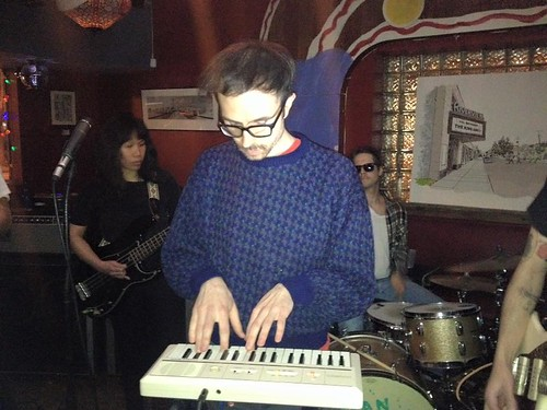 Me on Synthesizer for You're Jovian at Charlie's Cafe (Feb 6 2016)