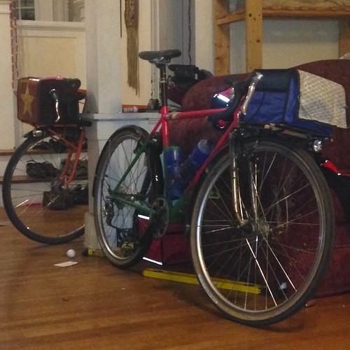1� handmade bicycles (1 scratchbuilt, 1 kitbashed)