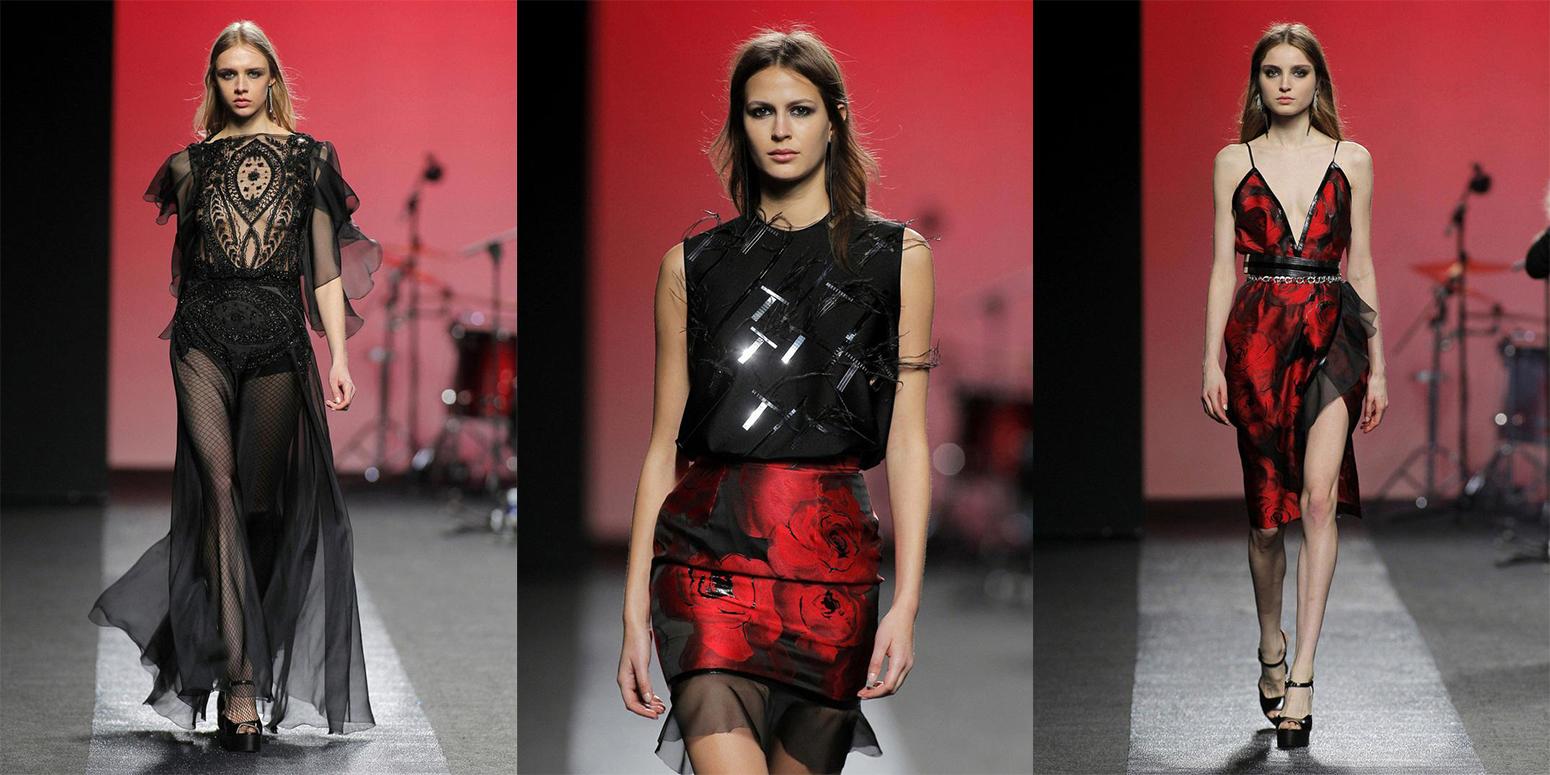 Striped T-Shirt Sequin skirt black blazer madrid fashion week street style fashion outfit04.jpg14