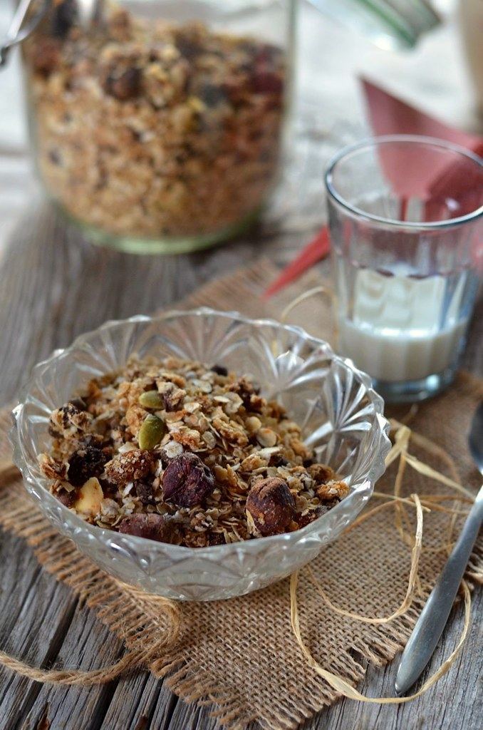 Granola maison au chocolat et noix de coco