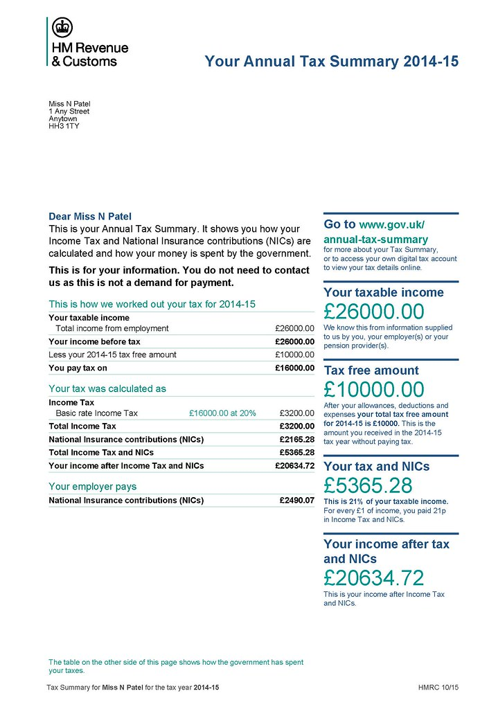 how to get old tax statements from hmrc