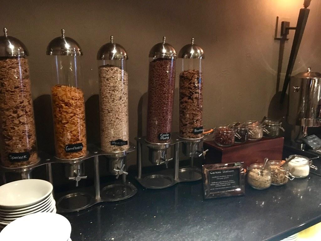 Breakfast at Worsley Park Marriott Hotel cereal
