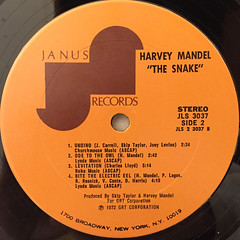 HARVEY MANDEL:THE SNAKE(LABEL SIDE-B)