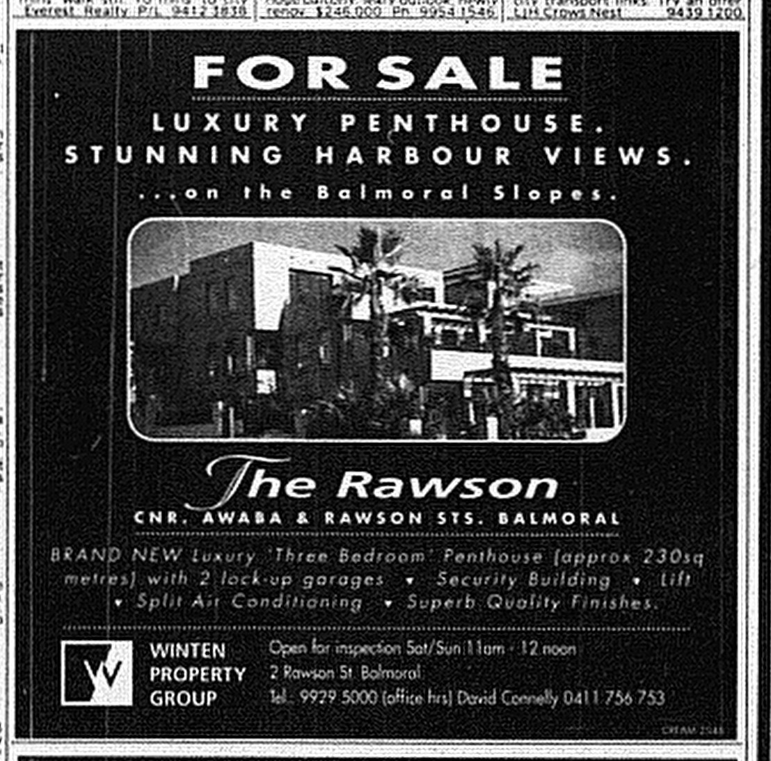 The Rawson Balmoral June 13 1998 SMH10RE