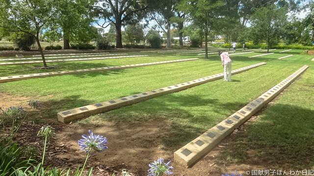 脱走兵ふくめ戦争中にオーストラリアで亡くなった日本人550余霊が眠る墓地(撮影:筆者)