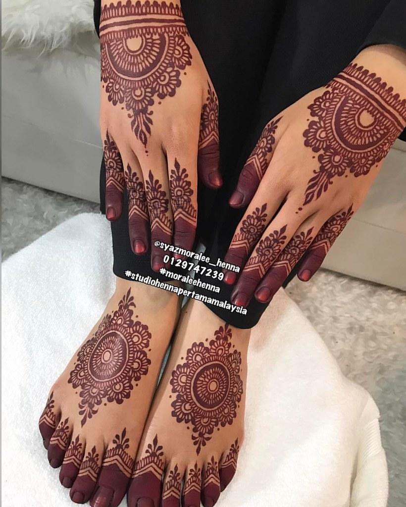 Full Set Henna Pengantin Jenis Lukisan Mandala Flickr
