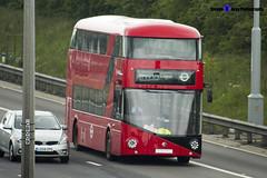 Wrightbus NRM NBFL - LTZ 1215 - LT215 - 357 EL Trade Plates - Luton M1 J10 - 140422 - Steven Gray - IMG_8097 (2)