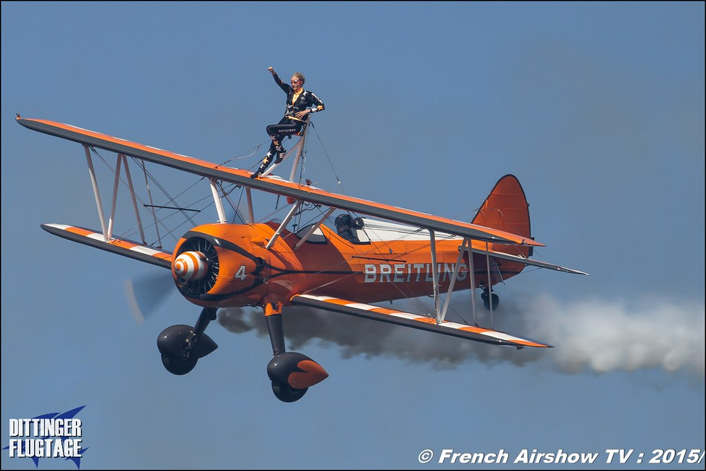 Breitling Wingwalkers , UK Wingwalking Team , aerosuperbatics, Dittinger Flugtage 2015 , Internationale Dittinger Flugtage, Meeting Aerien 2015