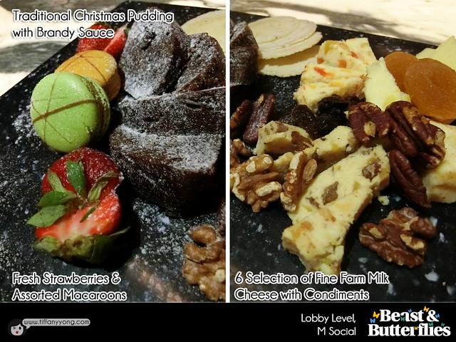 M Social Beast and Butterflies Christmas Dessert