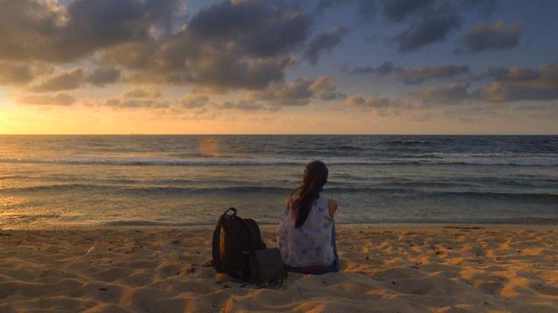 Sunset at Pagudpud beach Ilocos Norte