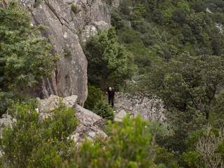 Au retour dans la montée au col au-dessus de la pointe 571 (Photo Olivier Hespel)