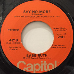 BABE RUTH:ELUSIVE(LABEL SIDE-B)