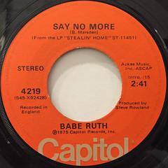 BABE RUTH:ELUSIVE(LABEL SIDE-B)