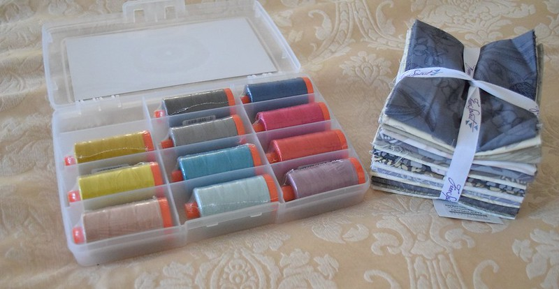 aurifil and Skipping Stones fabric